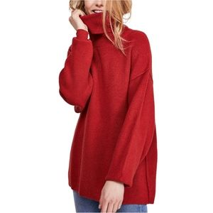 Free People Softly Structured Tunic L NWT Brick